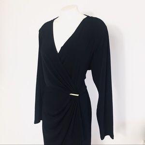 Michael Kors Black Dress Long Sleeve sz 2X Womens